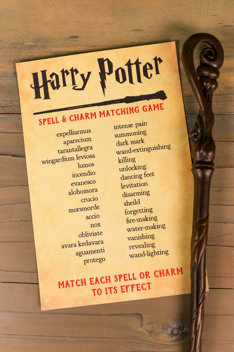 think you know your harry potter spells and charms print out this harry potter spell