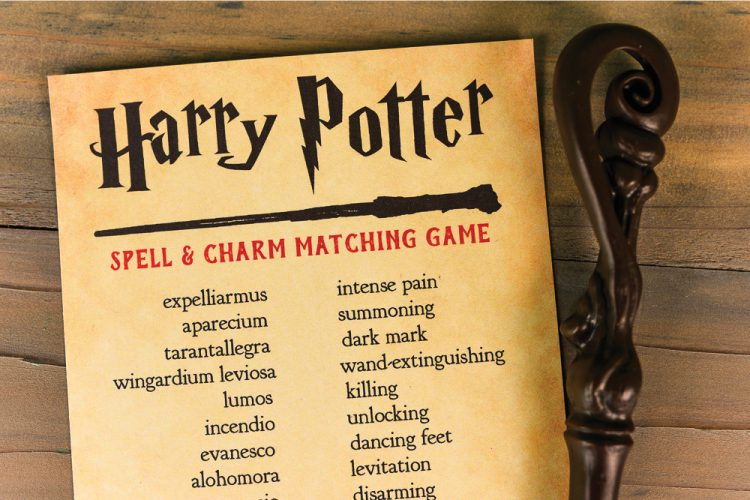 Think You Know Your Harry Potter Spells And Charms? Print Out This Harry  Potter Spell