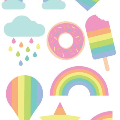 Pastel Rainbow Cut Files + Clip Art – Freebie Friday