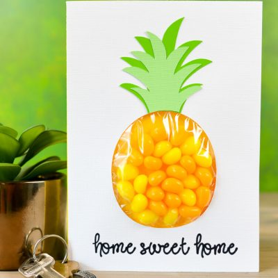 Pineapple Candy Pouch Card