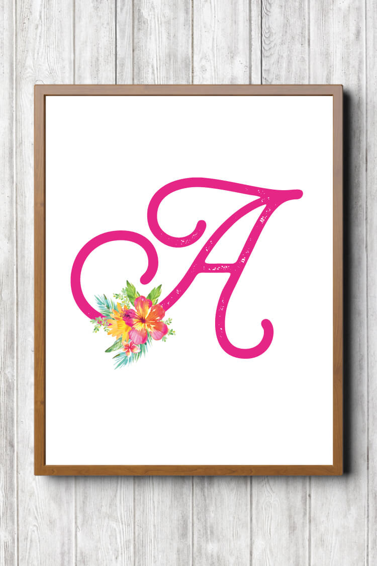 These bright and happy tropical nursery initials are the perfect finishing touch to your any island girl's room! Download all 26 letters for free and print at home.