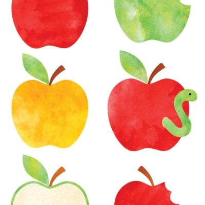 Watercolor Apple Clip Art – Freebie Friday