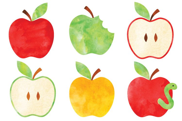 watercolor apple clip art freebie friday hey let s make stuff rh heyletsmakestuff com Fall Apple Clip Art School Teacher Clip Art