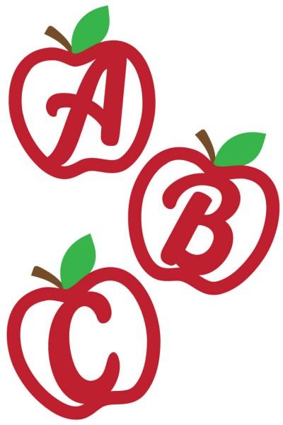 Apple Alphabet SVG Cut Files