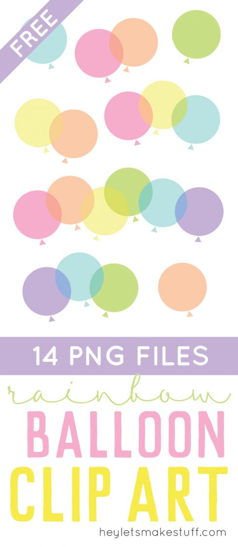 This colorful and happy set of balloon clip art is just what you need for all of your creative projects! Use them on cards, invitations, artwork, and more!