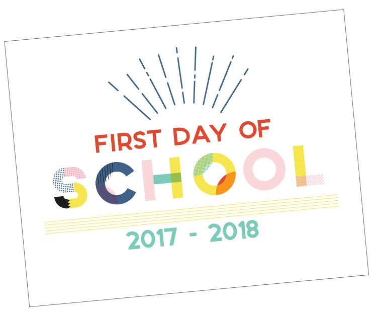 These totally rad free printable First Day of School signs are all that and a bag of chips! Print them out to document the first day of school with your kids, from pre-k through high school.