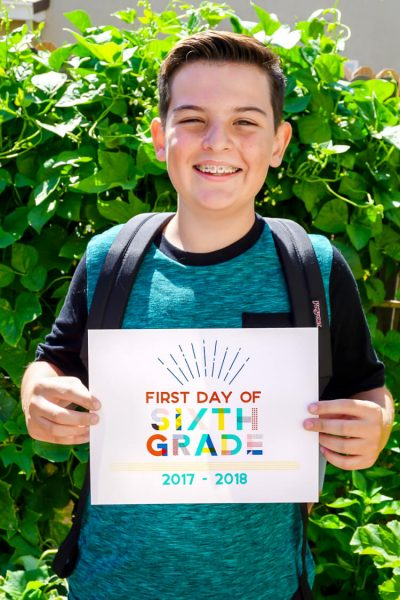 90's Inspired First Day of School Printables