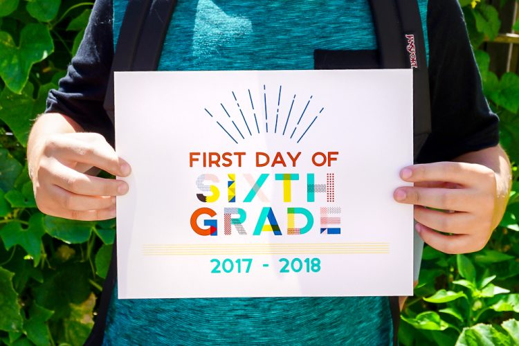90s Inspired First Day Of School Printables Hey Lets Make Stuff
