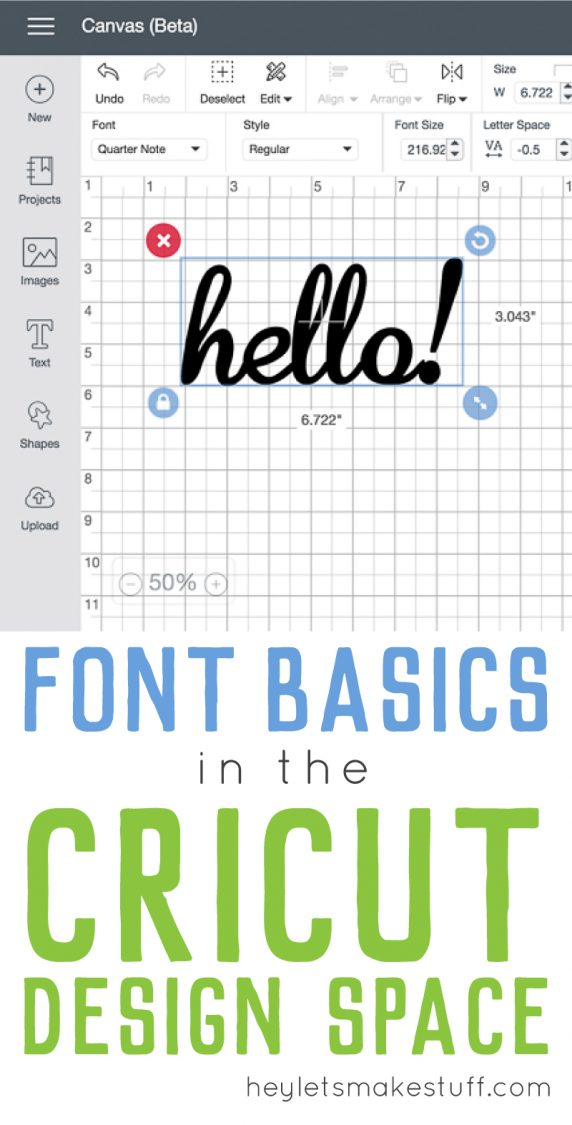 Wondering why your fonts the Cricut Design Space are all spaced out? Want to know more about how DS fonts work? Check out these font basics in the Cricut Design Space!