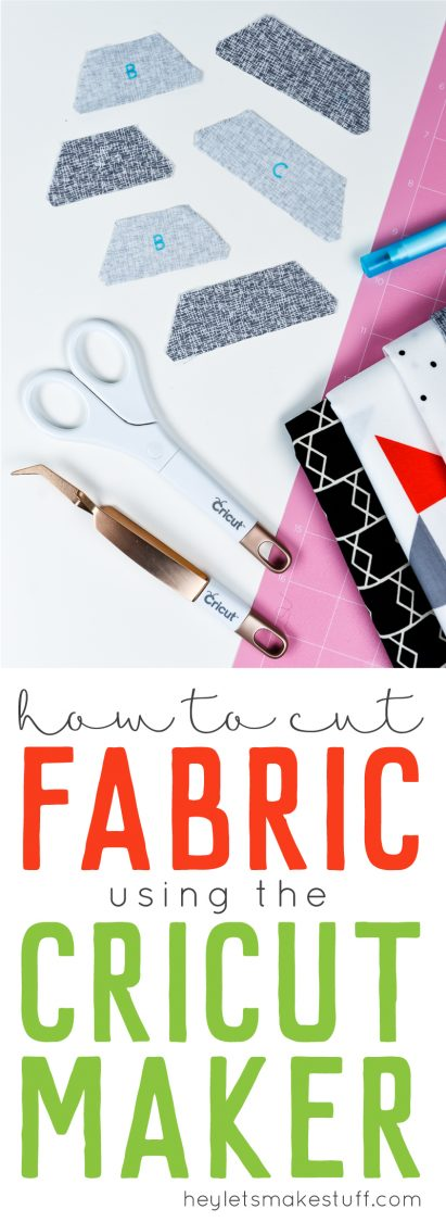 Learn how to cut fabric on the Cricut Maker pin image