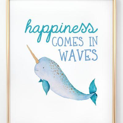 Free Printable Ocean Nursery Initials + Prints