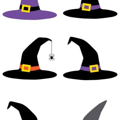 Witch Hat Cut Files + Clip Art