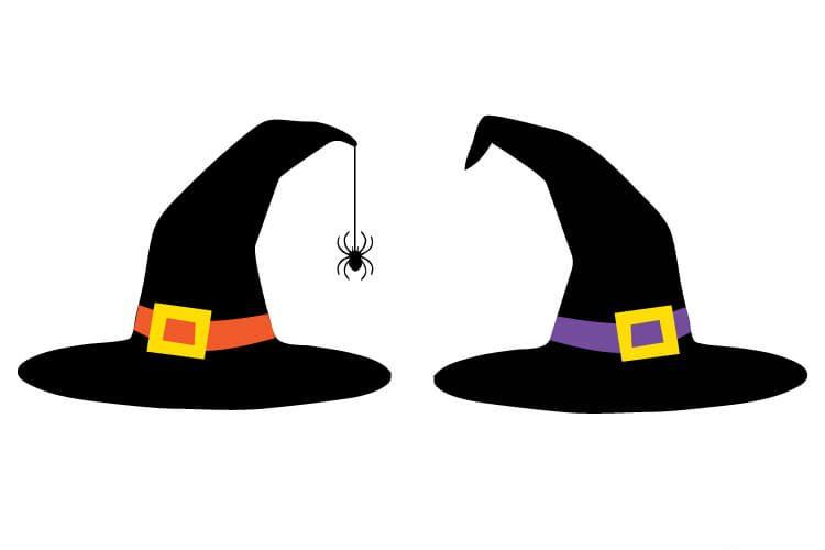 edb8de3cd87 Witch Hat Cut Files + Clip Art - Hey