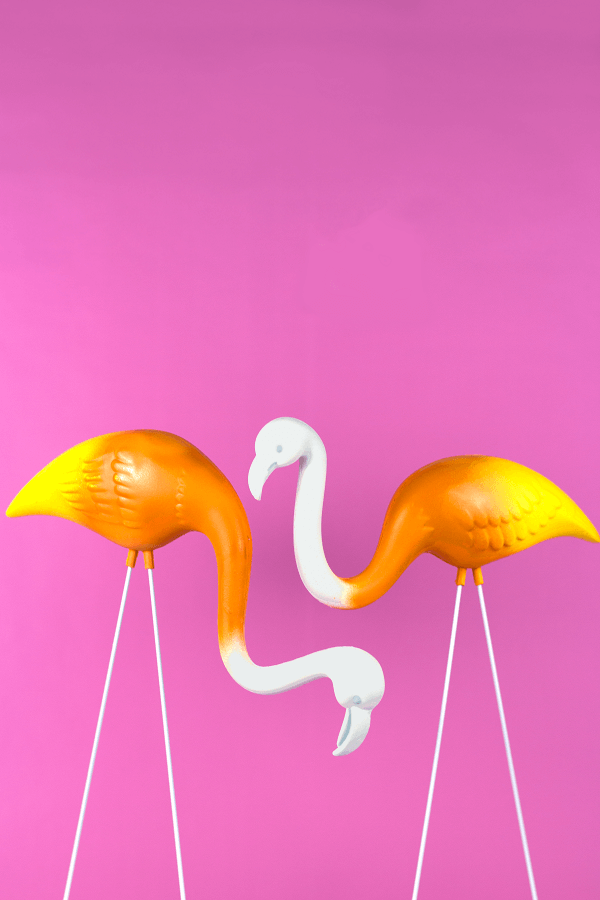 Candy Corn Flamingoes - The Glitter in my Tea