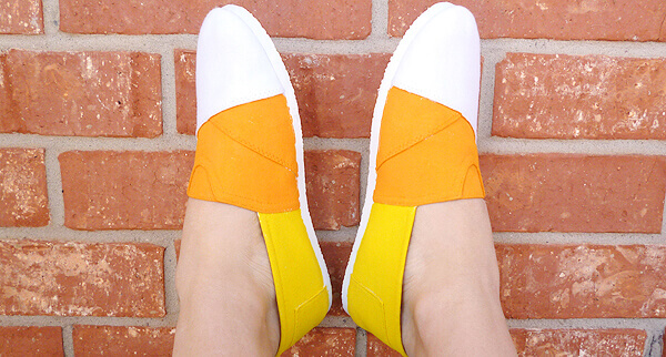 Candy Corn Shoes - Dream a Little Bigger