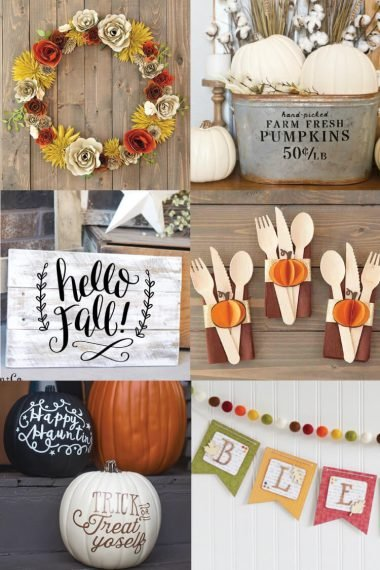 Get your house ready for autumn with these festive Cricut fall projects! So many easy Cricut tutorials to help you create a cozy space for fall in your home.