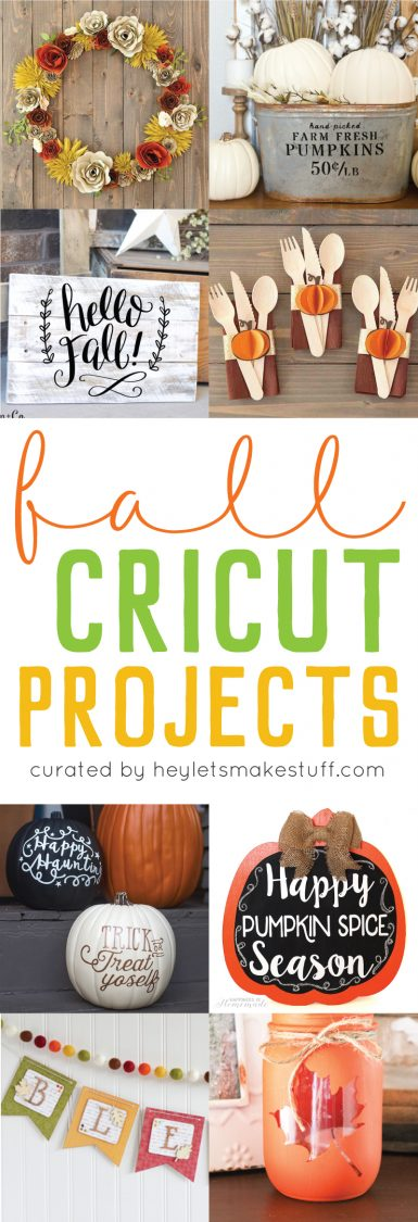 Fall Cricut projects pin image