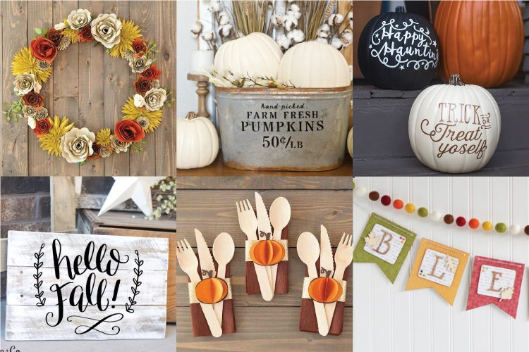 Cricut fall projects photo collage