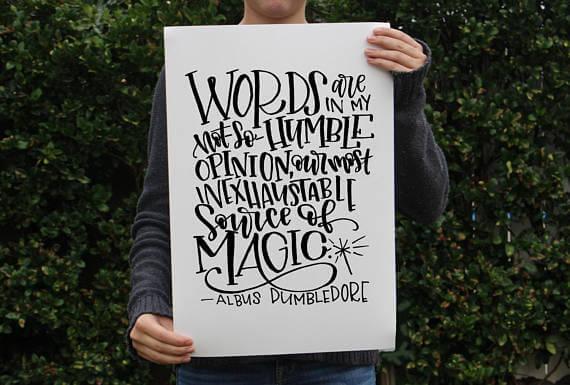 Dumbledore Quote - Mini Press