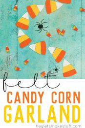 Decorate your mantel for Halloween with this delicious candy corn garland! Cut with a Cricut or by hand and stitch quickly together on your sewing machine.
