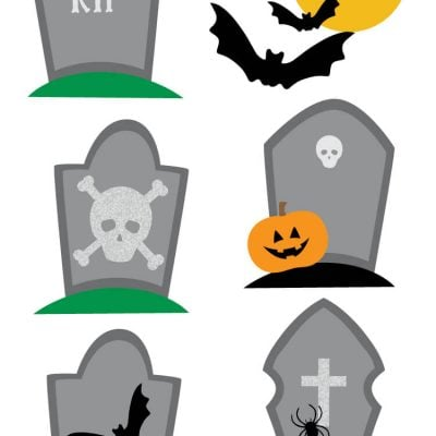Haunted Graveyard Clip Art – Freebie Friday
