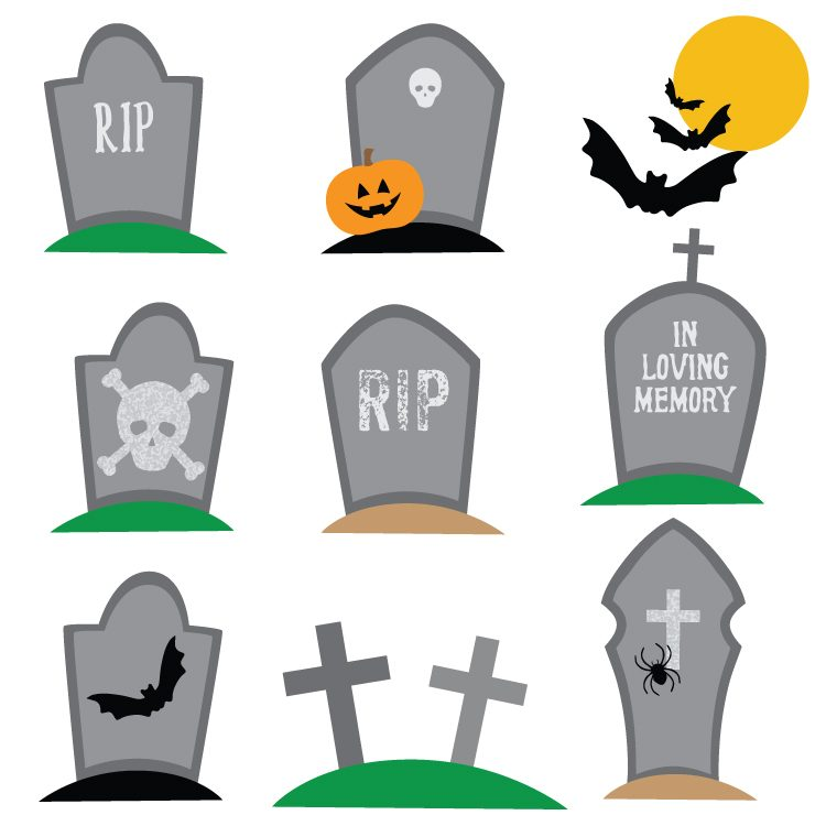 haunted graveyard clip art freebie friday hey let s make stuff rh heyletsmakestuff com
