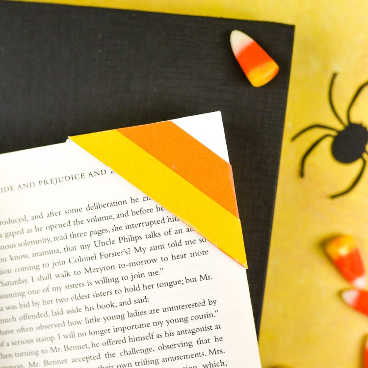 make these clever corner halloween bookmarks the candy corn and spider web bookmarks are perfect - Halloween Book Marks