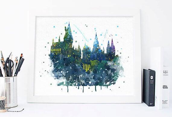 Harry Potter Hogwarts Print - Art Quality Design