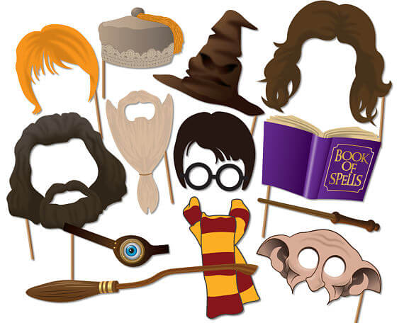 Harry Potter Photo Booth Props - InstantGraffix