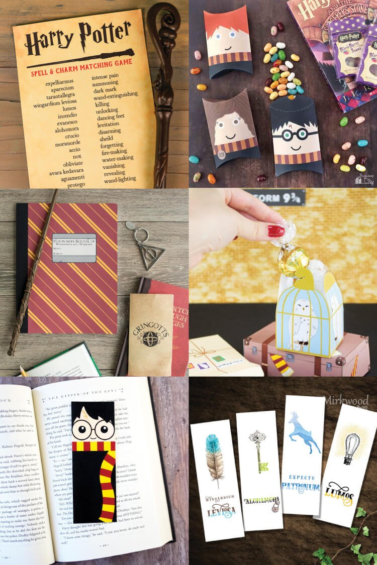 Magical Harry Potter Printables Games Party Decor