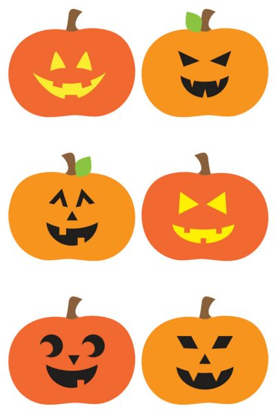 Jack O Lantern Cut Files + Clip Art