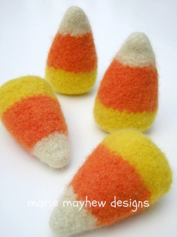 Knitted Candy Corn Pattern - Marie Mahew Designs