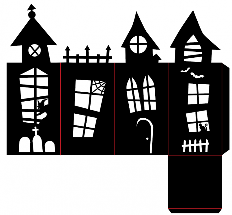 Cut this fun SVG Haunted House Lantern on your Cricut or other cutting machine—perfectly spooky decor for your table or mantel!