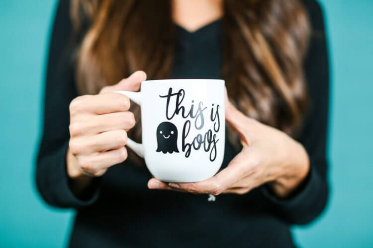 Use this free SVG This Is Boos decal design to create your own funny Halloween projects and gifts like this clever mug. Perfect for the stressed out mom with a sense of Halloween humor.