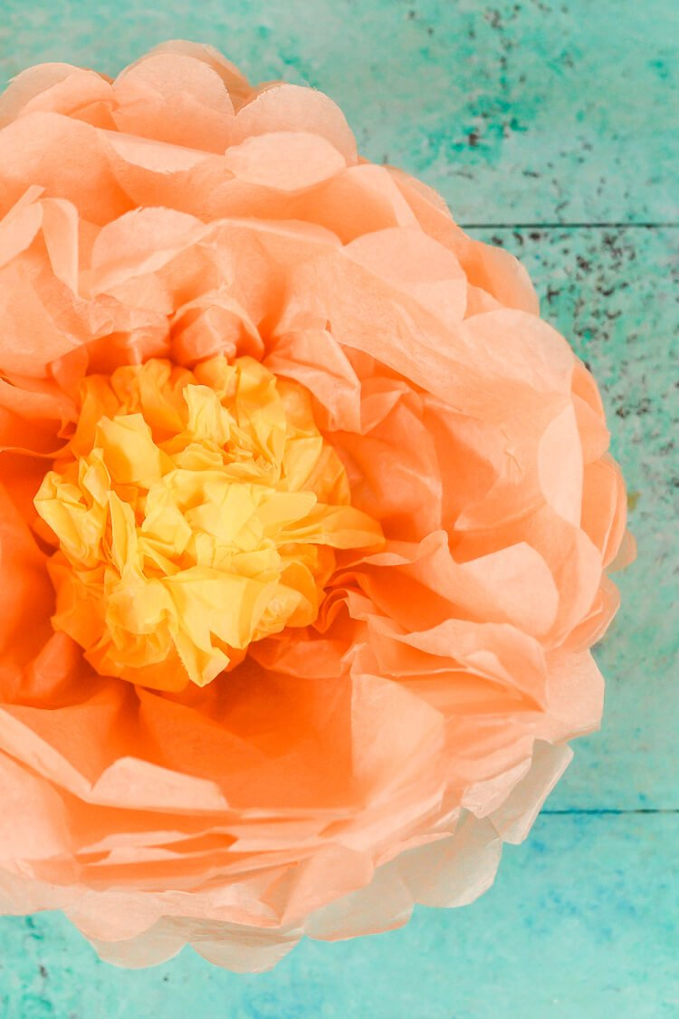 How To Make Tissue Paper Flowers Four Ways Hey Lets Make Stuff