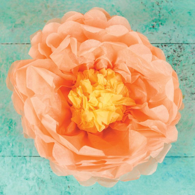 How to make tissue paper peonies hey lets make stuff delicate tissue paper is the perfect material for making paper flowers these tissue paper peonies mightylinksfo