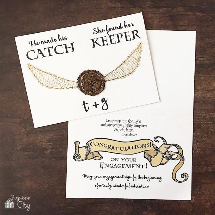 Harry Potter printable wedding cards