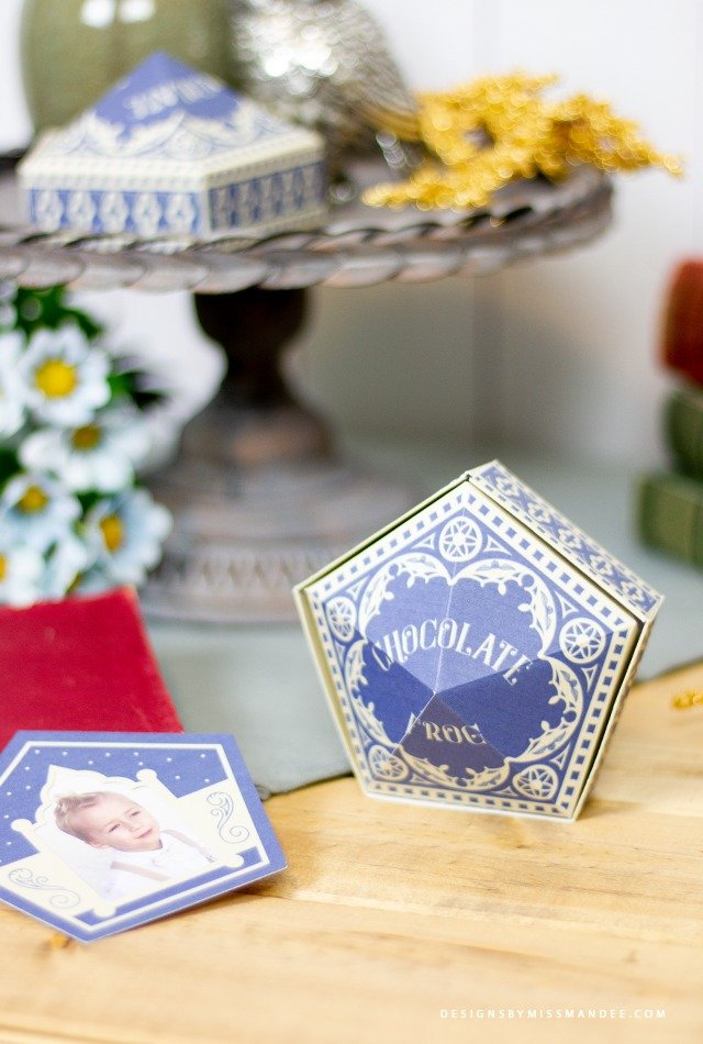 Printable harry potter chocolate frog boxes