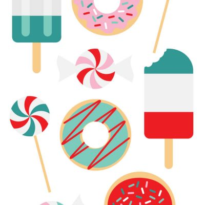 Festive Sweets Christmas Clip Art and Cut Files