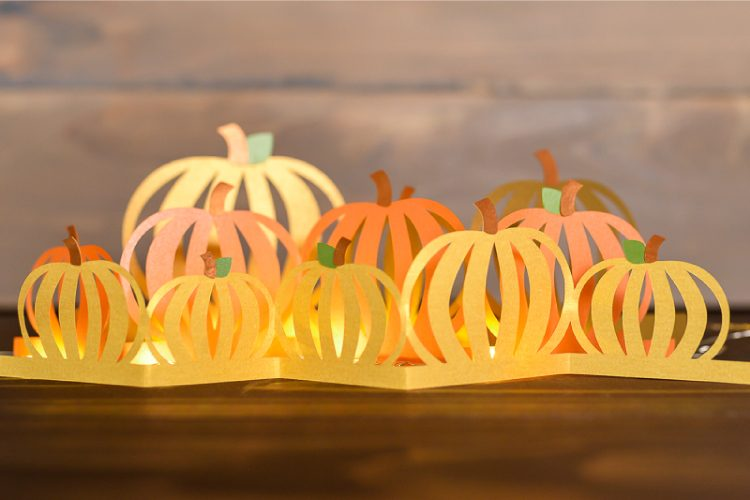 pumpkin luminaria fall decor