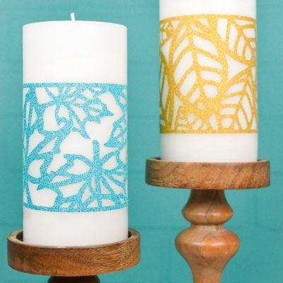 Fall Leaf Candle Wraps
