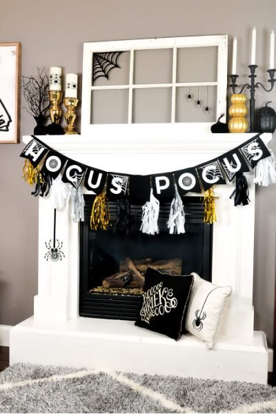 Glam Halloween Mantel Ideas