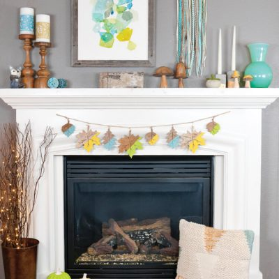 Non-Traditional Fall Mantel Ideas