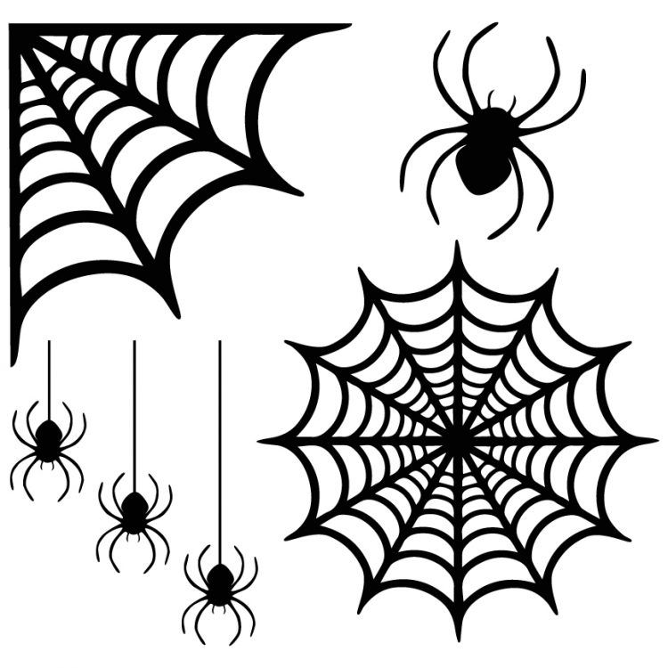 these files could also be used for any other halloween spider project you might think of t shirts mugs tote bags invitations how cute would the little