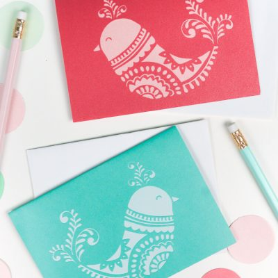 DIY Christmas Cards – Christmas Birds SVG Download