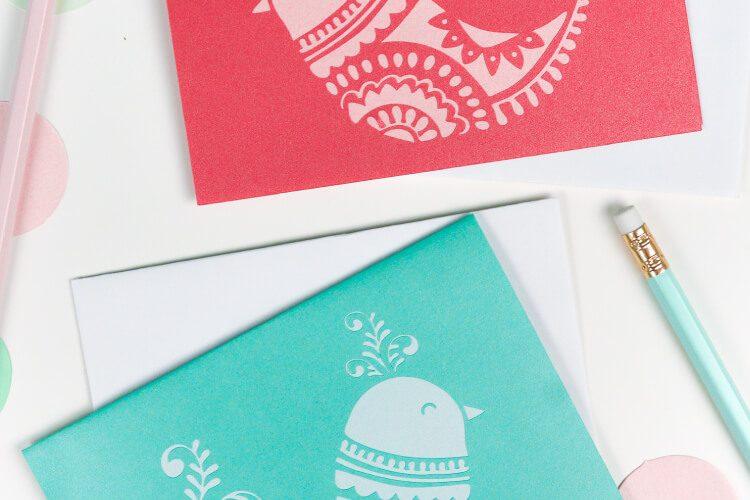 DIY Christmas Cards – Christmas Birds SVG Download