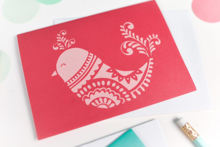Cut these gorgeous DIY Christmas cards on your Cricut or other cutting machine and send to a friend who would appreciate a beautiful handmade card! Plus, get a fabulous bundle deal on 10 Christmas card and gift tag SVG files, available at a reduced price for a limited time!