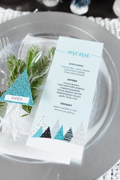 Winter Trees Christmas Table Decor Ideas