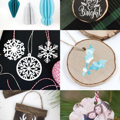 DIY Christmas Ornaments with the Cricut