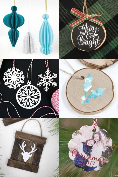 DIY Christmas Ornaments with the Cricut